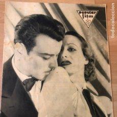 Cinéma: REVISTA POPULAR FILM OCT 1932 JOAN CRAWFORD.GRETA GARBO RAMON NOVARRO.TALLULAH BANKHEAD.GARY COOPER. Lote 210769265