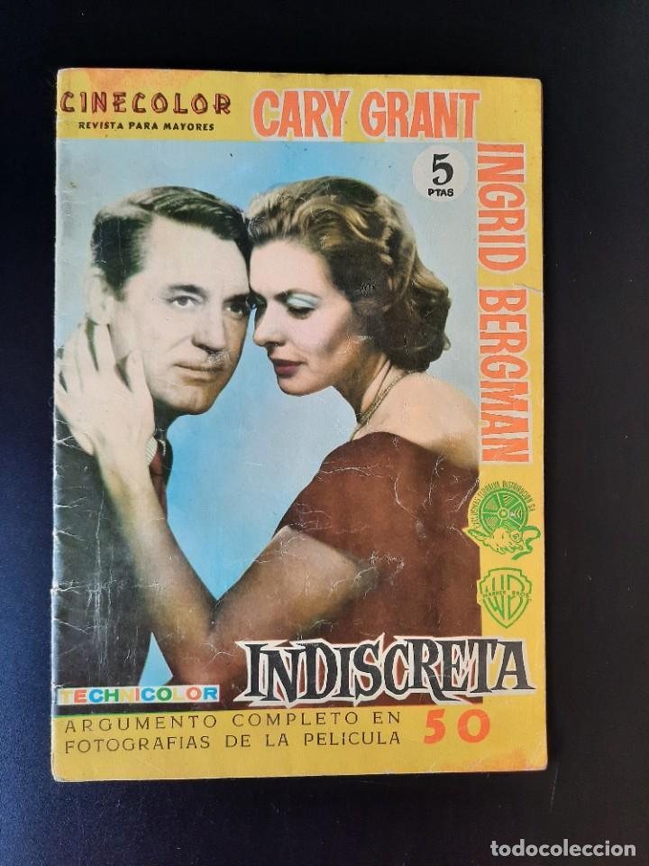 CARY GRANT-INGRID BERGMAN/CINECOLOR/INDISCRETA (Cine - Revistas - Cinecolor)