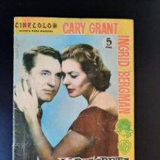 Cine: CARY GRANT-INGRID BERGMAN/CINECOLOR/INDISCRETA. Lote 210806835
