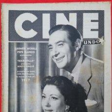 Cine: CINE MUNDO - ENERO 1957 Nº 251 - CARMEN MORELL~PEPE BLANCO - RITA MORENO - PJRB. Lote 210834494