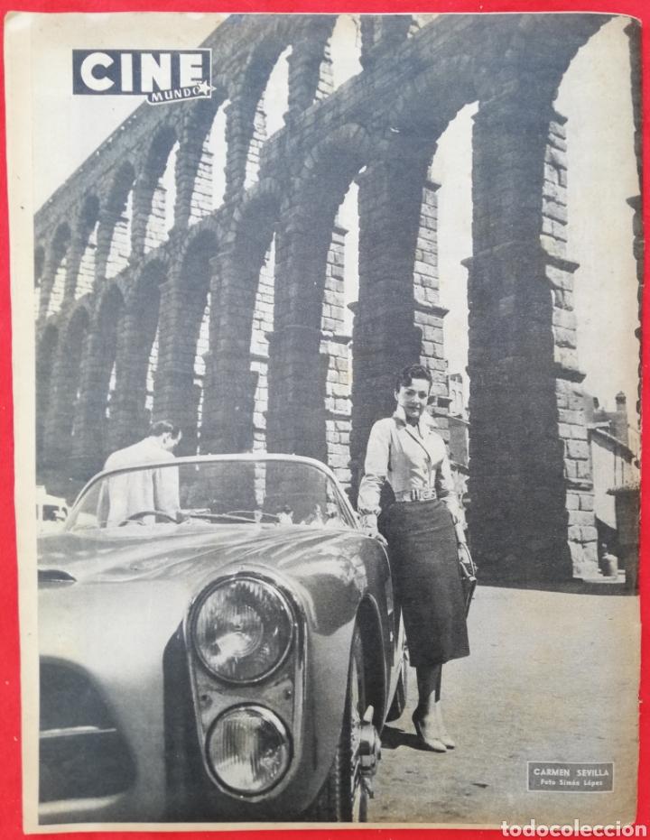 Cine: CINE MUNDO - SEPTIEMBRE 1956 Nº 233 - AMPARO RIVELLES - CARMEN SEVILLA - PJRB - Foto 3 - 210837331