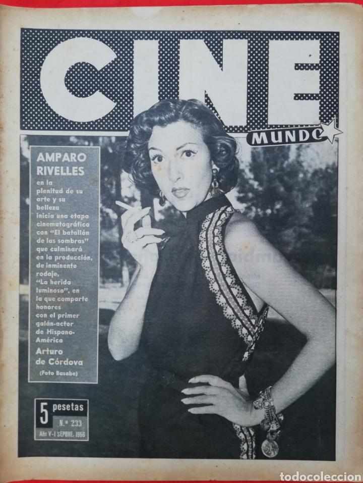 CINE MUNDO - SEPTIEMBRE 1956 Nº 233 - AMPARO RIVELLES - CARMEN SEVILLA - PJRB (Cine - Revistas - Otros)