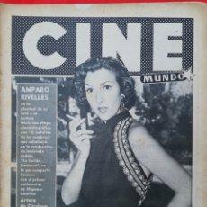Cine: CINE MUNDO - SEPTIEMBRE 1956 Nº 233 - AMPARO RIVELLES - CARMEN SEVILLA - PJRB. Lote 210837331