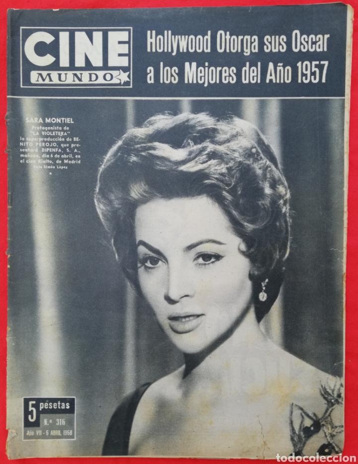 CINE MUNDO - ABRIL 1958 Nº 316 - SARA MONTIEL - GIA SCALA - PJRB (Cine - Revistas - Otros)