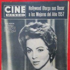 Cine: CINE MUNDO - ABRIL 1958 Nº 316 - SARA MONTIEL - GIA SCALA - PJRB. Lote 210838082