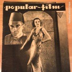 Cinéma: REVISTA POPULAR FILM MARZ 1933 BORIS KARLOFF LA MOMIA.MARLENE DIETRICH JOAN CRAWFORD. Lote 210838492