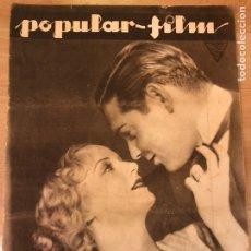 Cine: REVISTA POPULAR FILM ABR 1933 CAROLE LOMBARD CLARK GABLE.JEAN HARLOW.MELVY DOUGLAS NAGANA PAUL MUNI. Lote 210839031