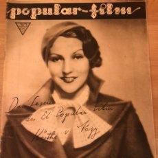 Cine: REVISTA POPULAR FILM ABR 1933 KATHE VON NAGY MARLENE DIETRICH LONA ANDRE GLORIA STUART KAY FRANCIS. Lote 210839574