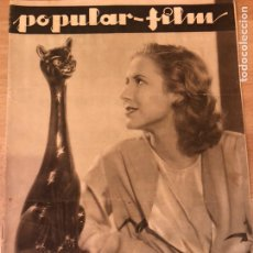 Cine: REVISTA POPULAR FILM ABR 1933 MAE CLARKE MARLENE DIETRICH GARY COOPER MAE WEST GRETA GARBO GABLE. Lote 210839855