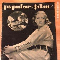 Cinéma: REVISTA POPULAR FILM MAY 1933 TALA BIRELL RAQUEL MELLER JOAN CRAWFORD MURIEL EVANS PAUL MUNI. Lote 210840107