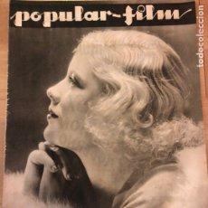 Cine: REVISTA POPULAR FILM JUL 1933 MARY CARLISLE.JUNE CLYDE.HARRY LANGDON.MICKEY MOUSE.JUNE VLASEK. Lote 210842659