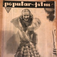 Cinéma: REVISTA POPULAR FILM AGOS 1933 JOAN CRAWFORD.MARLENE DIETRICH.GRETA GARBO MICKEY MOUSE.JEAN HARLOW. Lote 210843021