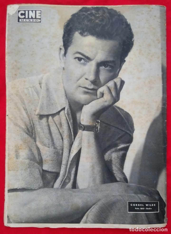 Cine: CINE MUNDO - AGOSTO 1952 Nº 45 - SILVANA PAMPA - CORNEL WILDE - PJRB - Foto 4 - 210941949