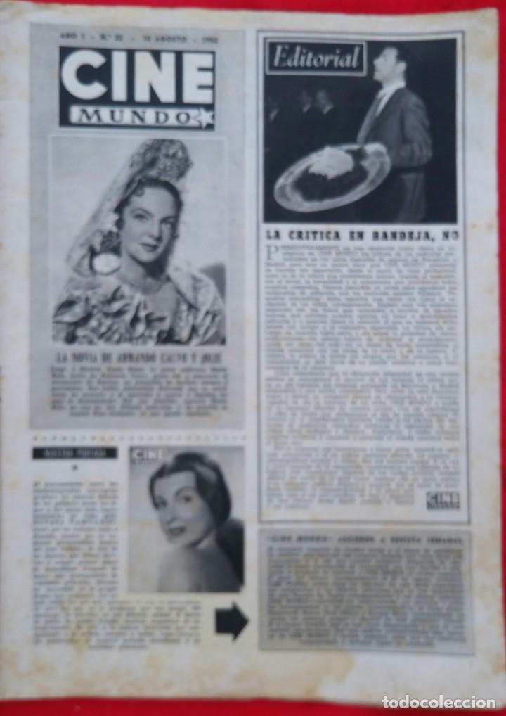 Cine: CINE MUNDO - AGOSTO 1952 Nº 45 - SILVANA PAMPA - CORNEL WILDE - PJRB - Foto 2 - 210941949