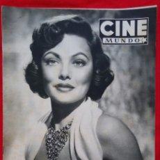Cine: CINE MUNDO 1959 - GENE TIERNEY - GREGORY PECK, ANN BLYTH - PJRB. Lote 210942880