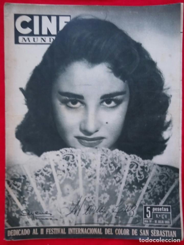 CINE MUNDO - JULIO 1955 - MARA LUZ GALICIA - CRISTINA SONDERBAUM - PJRB (Cine - Revistas - Otros)