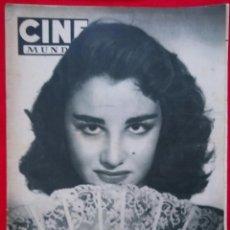 Cine: CINE MUNDO - JULIO 1955 - MARA LUZ GALICIA - CRISTINA SONDERBAUM - PJRB. Lote 210943650