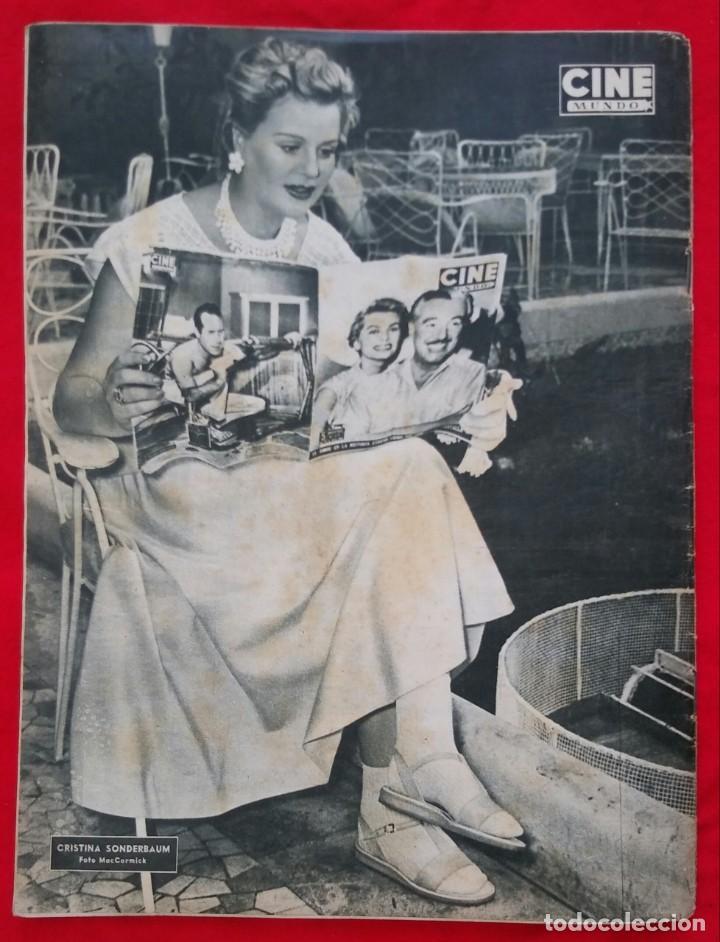 Cine: CINE MUNDO - JULIO 1955 - MARA LUZ GALICIA - CRISTINA SONDERBAUM - PJRB - Foto 4 - 210943650