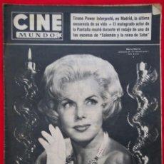 Cine: CINE MUNDO - NOVIEMBRE 1958 Nº 349 - MARÍA MARTÍN - TYRONE POWER - PJRB. Lote 210946691
