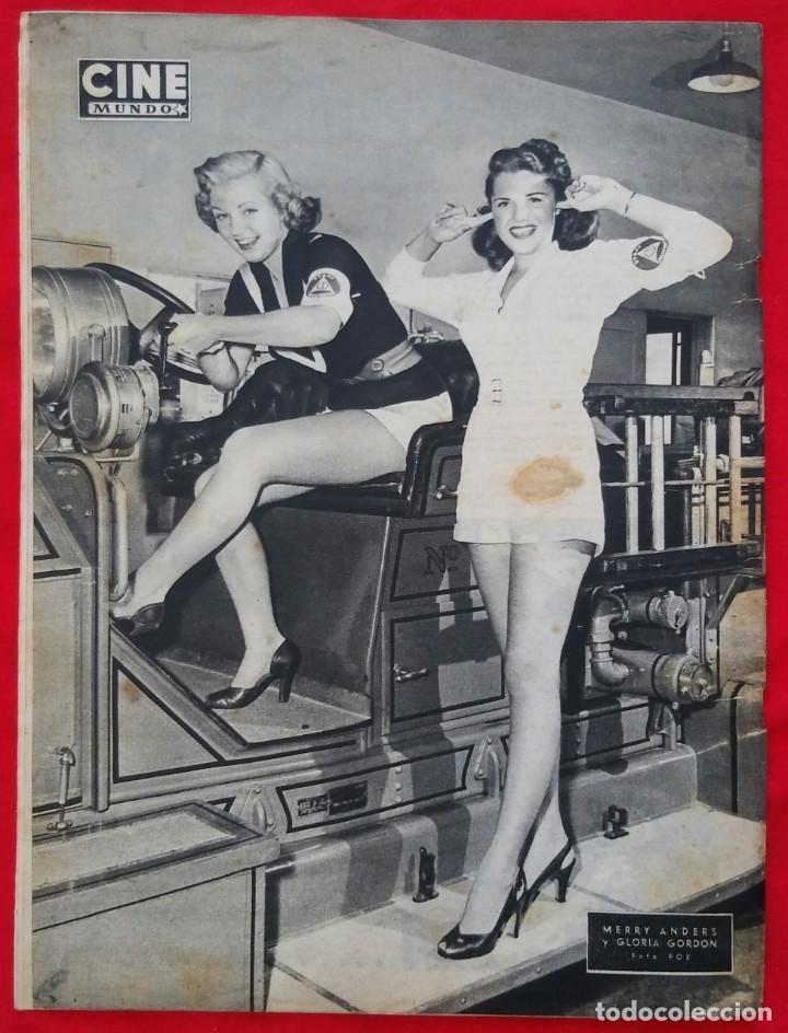 Cine: CINE MUNDO - ENERO 1953 Nº 43 - SIMONE SIGNORET - MERRY ANDERS, GLORIA GORDON - PJRB - Foto 4 - 210947581