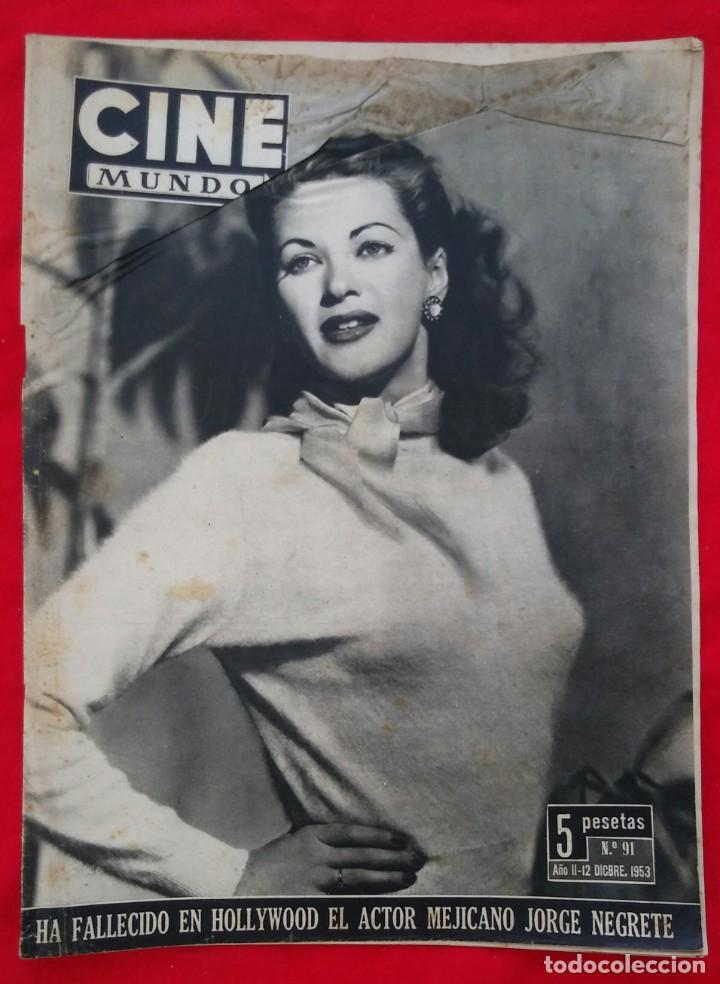 CINE MUNDO - ENERO 1953 Nº 91 - IVONNE DE CARLO - SUZAN BALL - PJRB (Cine - Revistas - Otros)