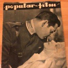 Cine: REVISTA POPULAR FILM DIC 1933 CLARK GABLE.LENI RIEFENSTAHL.STAN LAUREL OLIVER HARDY.JOAN CRAWFORD.. Lote 211432832