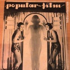 Cine: REVISTA POPULAR FILM NOV 1933 SHIRLEY GREY.FREDRIC MARCH.BETTE DAVIS.BUSTER KEATON.JOAN BLONDELL.. Lote 211433280
