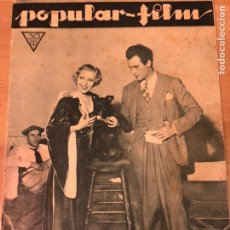 Cine: REVISTA POPULAR FILM NOV 1933 CATALINA BARCENA GILBERT ROLAND.GLORIA SWANSON.CRIMENES MUSEO CERA. Lote 211433765