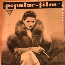 Cine: REVISTA POPULAR FILM MAR 1933 CLARA BOW.JOHN BARRYMORE.MARY CARLISLE.CLAUDETTE COLBERT. Lote 211434086