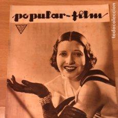 Cine: REVISTA POPULAR FILM ENE 1934 KAY FRANCIS.WARNER BAXTER.JEAN GABIN.RAMON NOVARRO.CAROLE LOMBARD. Lote 211434271