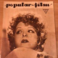 Cine: REVISTA POPULAR FILM ENE 1934 CLARA BOW WALT DISNEY.JEAN PARKER.CONRAD VEIDT.. Lote 211434531
