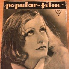 Cinema: REVISTA POPULAR FILM MAR 1933 GRETA GARBO.PAYASO GROCK.MURIEL EVANS.CLARA BOW.RAQUEL MELLER. Lote 211435086
