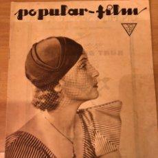 Cine: REVISTA POPULAR FILM ENE 1934 DOROTHEA WIECK.MARLENE DIETRICH.WALT DISNEY.CENA A LAS 8 JEAN HARLOW. Lote 211435259