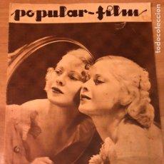 Cine: REVISTA POPULAR FILM MAR 1934 MARY CARLISLE.GRETA GARBO.RICHARD ARLEN.IDA LUPINO. Lote 211435860