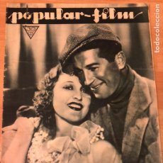 Cine: REVISTA POPULAR FILM ENE 1933 JEANETTE MACDONALD.BUSTER KEATON.CLARK GABLE.NORMA SHEARER.JEAN PARKER. Lote 211436082