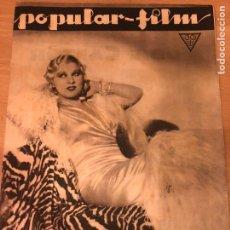 Cinéma: REVISTA POPULAR FILM SEP 1933 MAE WEST.GRETA GARBO.BRIGITTE HELM.VAMOIRESAS 1933.JEAN HARLOW. Lote 211499761