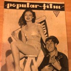 Cinéma: REVISTA POPULAR FILM OCT 1933 LONA ANDRE.GRACE BRADLEY.MAE WEST.JOAN CRAWFORD. Lote 211500625