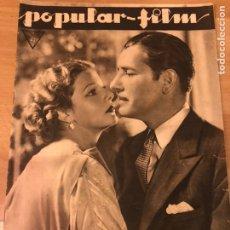 Cinéma: REVISTA POPULAR FILM OCT 1933 ELISSA LANDI RONALD COLMAN.JOAN CRAWFORD.DOROTHEA WIECK.BARBARA ROGERS. Lote 211501637