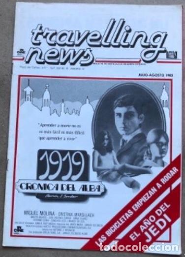 TRAVELLING NEWS (1983). EL AÑO JEDI. ESTRENO EL RETORNO DEL JEDI, POSTER DE DOBLE PÁGINA EN B/N. (Cine - Revistas - Otros)