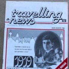 Cine: TRAVELLING NEWS (1983). EL AÑO JEDI. ESTRENO EL RETORNO DEL JEDI, POSTER DE DOBLE PÁGINA EN B/N.. Lote 211522067