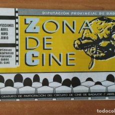 Cine: ZONA DE CINE. ABRIL 1993. TOTÓ EL HÉROE. BELLE EPOQUE. MYSTERY TRAIN. DRÁCULA. LIBROS DE CINE.. Lote 211529616