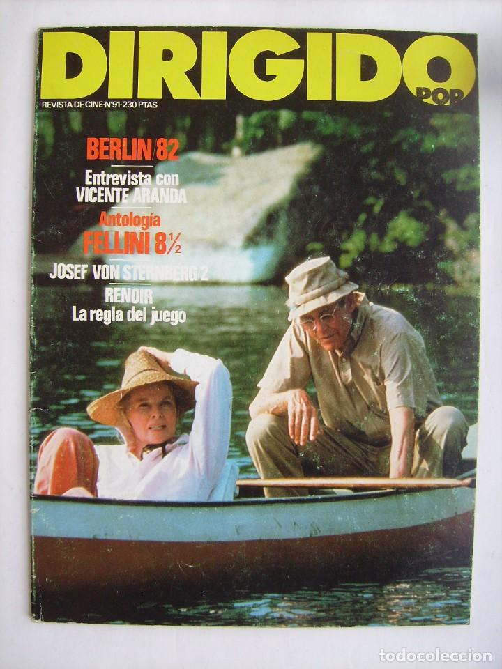 DIRIGIDO POR. REVISTA Nº 91. 1982. (Cine - Revistas - Dirigido por)