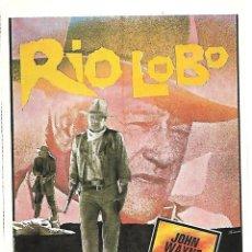 Cine: RIO LOBO. Lote 211913413