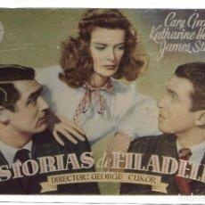Cine: HISTORIAS DE FILADELFIA. Lote 211914190