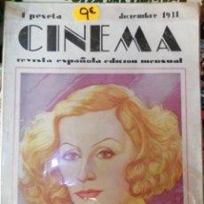 Cine: CINEMA, DICIEMBRE 1931. Lote 211923962