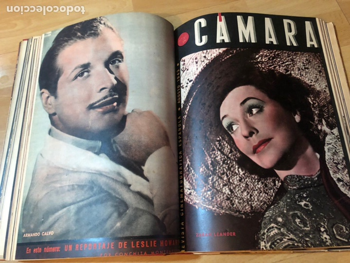 Cine: Tomo encuadernado revista cámara.concha piquer.amparo rivelles.mercedes vecino.greta garbo - Foto 11 - 212123291