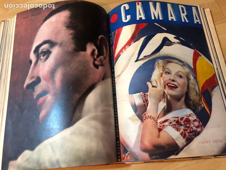 Cine: Tomo encuadernado revista cámara.concha piquer.amparo rivelles.mercedes vecino.greta garbo - Foto 13 - 212123291
