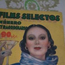 Cine: FILMS SELECTO 72 PÁGINAS 1934. Lote 212252442