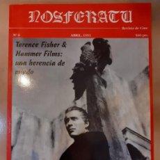 Cinema: NOSFERATU - REVISTA DE CINE Nº 6 - TERENCE FISHER & HAMMER FILMS: UNA HERENCIA DE MIEDO -. Lote 212334205