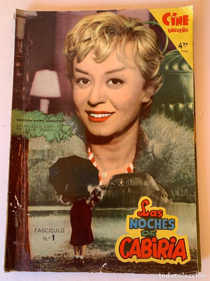 LAS NOCHES DE CABIRIA.COMPLETA 6 EJEMPLARES.COLECCIÓN MANDOLINA CINE ENSUEÑO. FHER BILBAO 1959. (Cine - Revistas - Otros)
